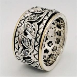 Inel argint si aur 14k -RG10-149