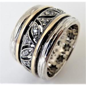 Inel argint si aur 14k -RG10-159