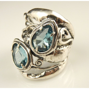 Inel argint topaz R10687