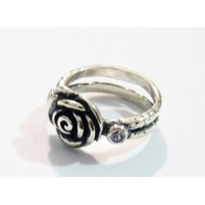 Inel argint trandafir R1395