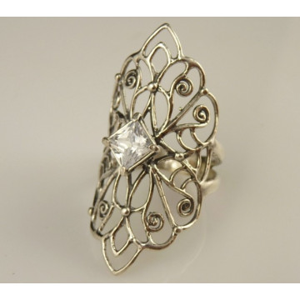 Inel argint zircon R10348