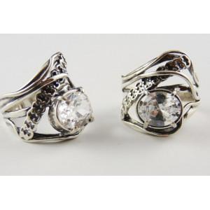 Inel argint zircon R1347