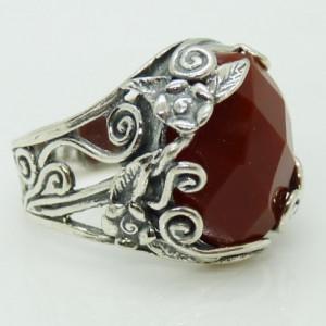 Inel din argint R6980- carneol