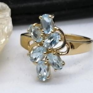 Inel ELIZA-argint placat si aur -topaz VR016627