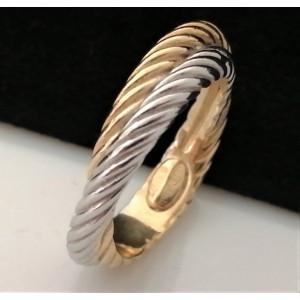 Inel impletit -argint si argint placat cu aur galben-ANSI0111RBGIA