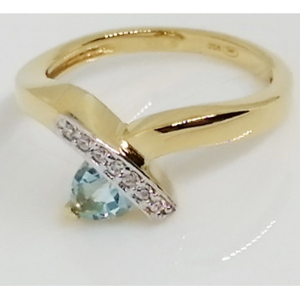 Inel Penelope-argint placat si aur -Topaz VR033843