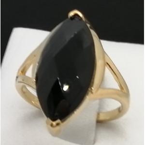 Inel Roanne -argint placat cu aur galben -VR012678- onix