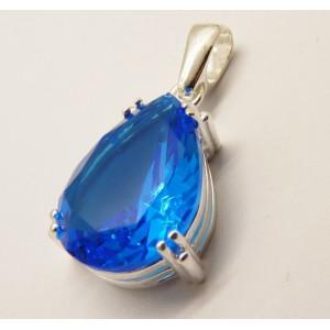 Pandantiv argint blue quartz -P3244 light