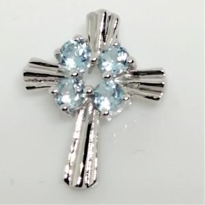 Pandantiv argint cruciulita-VP029371 topaz