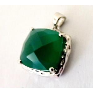 Pandantiv argint onix verde -VP09801
