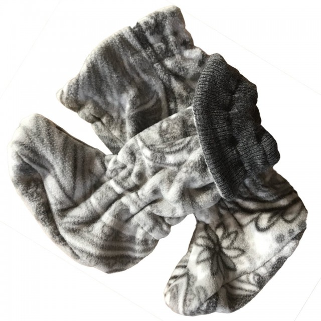 Botosei Manymonths Winter Booties Unique Pt Babywearing - Silver Grey/paisley Dream