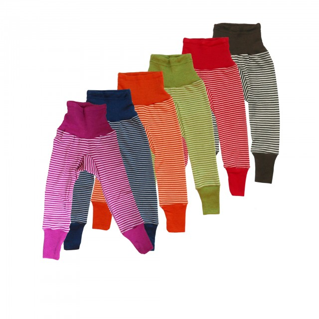 Cei mai comozi pantaloni din lana si matase organica, cu dungi,  Cosilana - diverse culori