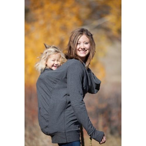 Hanorac pentru babywearing, sarcina si alaptare Boba Hoodie Gri (Transport Gratuit)