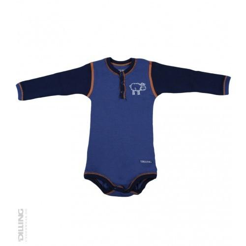 Body albastru din lână Merinos organică, Dilling thumbnail