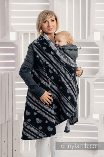 Cardigan lung/protectie babywearing pentru vreme rece, Lennylamb - GLAMOROUS LACE
