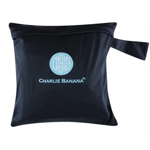 Gentuţă pentru scutece lavabile - wet bag Charlie Banana, negru