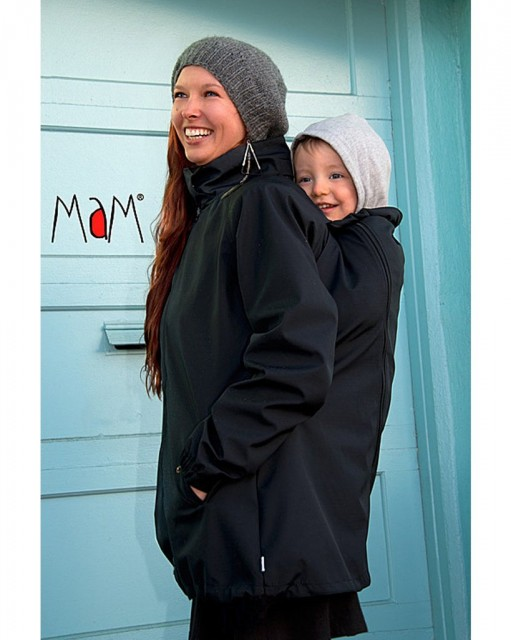 Haina MaM pentru Babywearing All-Weather Black (Transport Gratuit)