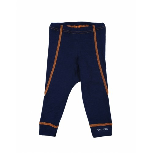 Pantaloni bleumarin (colanți) din lână Merinos organică, Dilling – model nou