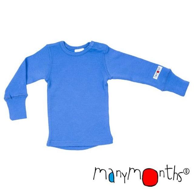 Bluza ManyMonths din lână merinos - Provence Blue
