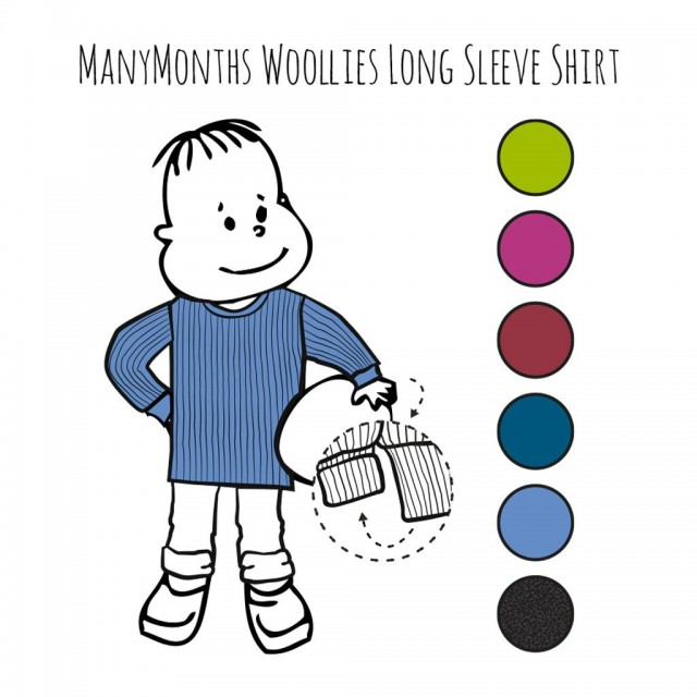 Bluza ManyMonths din lână merinos – Raspberry Red
