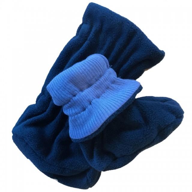 Botosei ManyMonths Winter Booties pt babywearing - Provence Blue/Poseidon