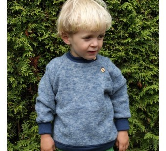 Pulover din lana organica tip fleece, Cosilana – diverse culori