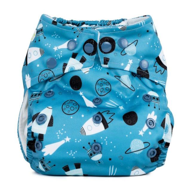 Scutec textil refolosibil cu buzunar Baba+Boo Shoot for the moon thumbnail
