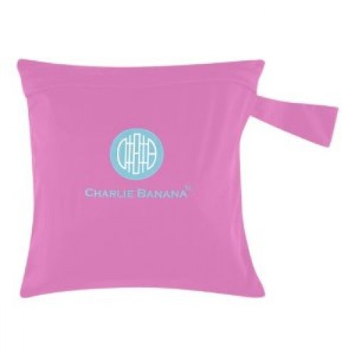 Gentuţă pentru scutece lavabile - wet bag Charlie Banana Bubblegum (roz)