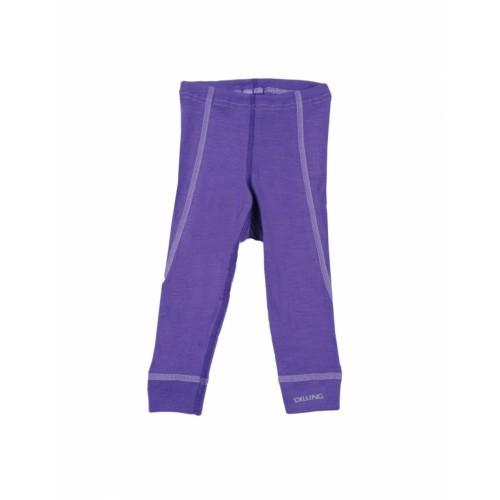 Pantaloni mov (colanți) din lână Merinos organică, Dilling – model nou