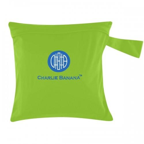 Gentuţă pentru scutece lavabile – wet bag Charlie Banana Shanghai Green (verde)