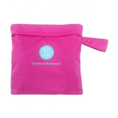 Gentuţă pentru scutece lavabile - wet bag Charlie Banana Hot Pink