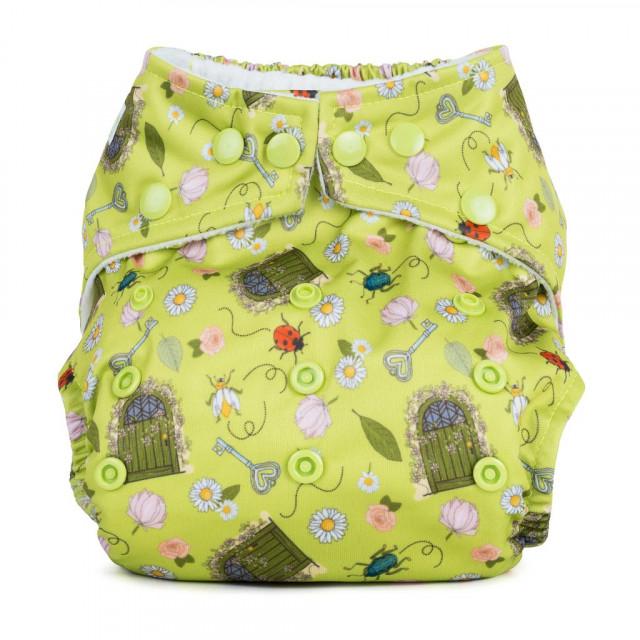 Scutec textil refolosibil cu buzunar Baba+Boo Secret garden thumbnail