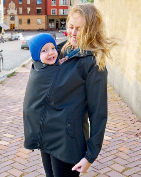 Poze Haina MaM pentru Babywearing All-Weather Black (Transport Gratuit)