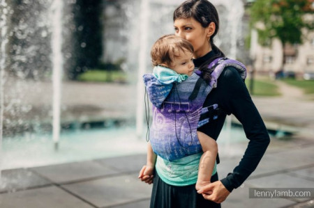 Poze Lenny Lamb Ergonomic Carrier Toddler Size , Full Wrap Conversion - SYMPHONY PURE JOY (65% bumbac + 35% in)