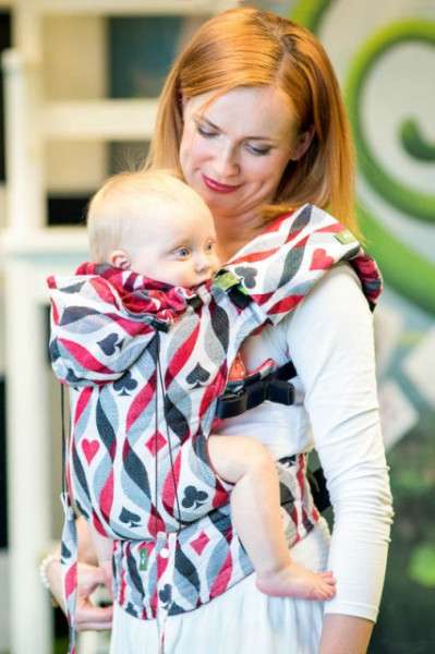 Poze Lenny Lamb Toddler Full Wrap Conversion - QUEEN OF HEARTS (Second Generation)