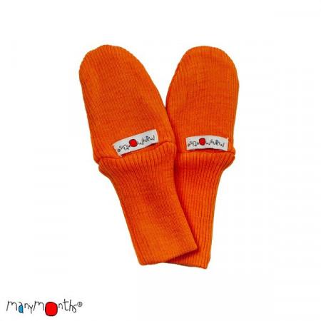 Manusi ManyMonths dublate lână merinos - Festive Orange