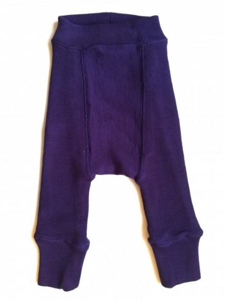 Pantaloni dublati Manymonths lână merinos - Majestic Plum