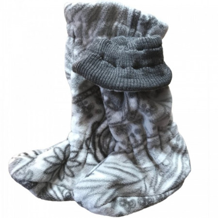 Poze Botosei ManyMonths Winter Booties Unique pt babywearing - Silver Grey/Paisley Dream