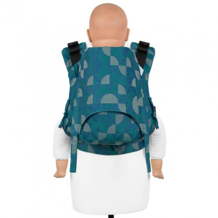 Poze Toddler Size: Fidella Fusion 2.0 Full Wrap Conversion, Kaleidoscope -ocean teal