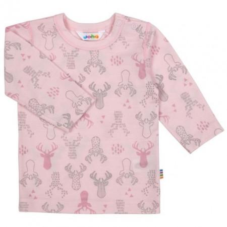 Bluza Joha lână merinos extra fina - Elk Ballet Pink