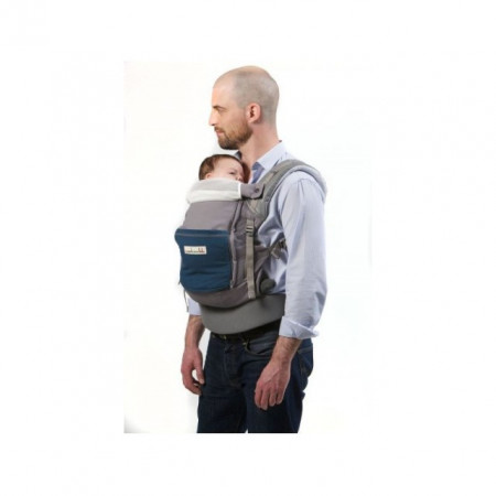 Poze Lichidare de stoc: Marsupiu SSC Physio Carrier - Elephant Pocket Peacock Blue - Leather Like