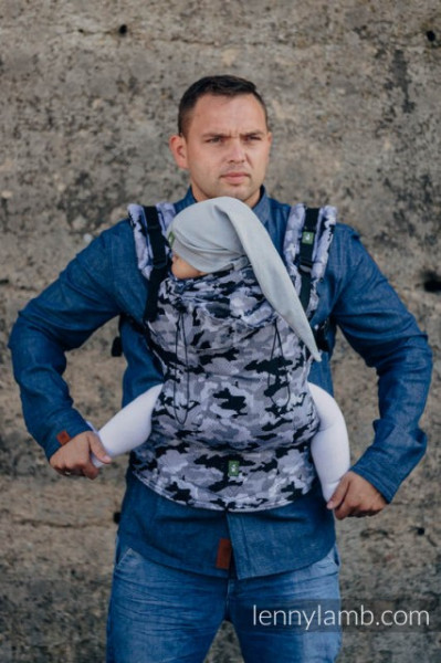 Poze LennyLamb Baby Size, Full Wrap Conversion - GREY CAMO (Second Generation)