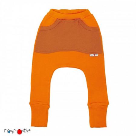 Pantaloni ManyMonths Kangaroo lână merinos - Festive Orange