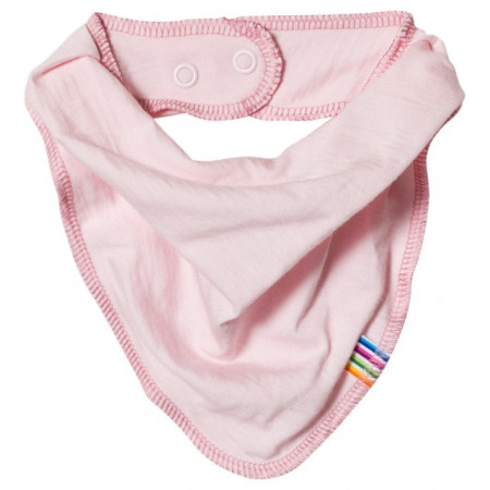 Bavetica/esarfa Joha din lână merinos - Ballet Pink