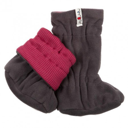 Poze Botosei ManyMonths Winter Booties pt babywearing - Frosted Berry/Magnet Grey
