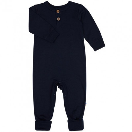 Poze Jumpsuit Joha lână merinos - Heavy Single Wool Navy