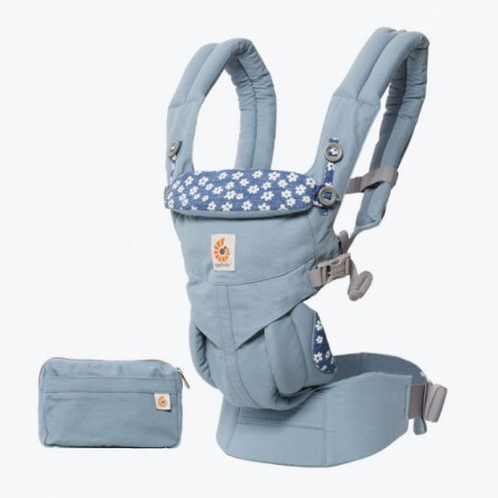 Poze Marsupiu Ergobaby Omni 360 BLUE DAISIES ALL IN ONE