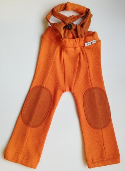 Pantaloni ManyMonths Hazel lână merinos - Festive Orange