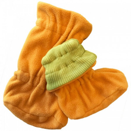 Poze Botosei ManyMonths Winter Booties pt babywearing - Sweet Apple/Saffron Yellow