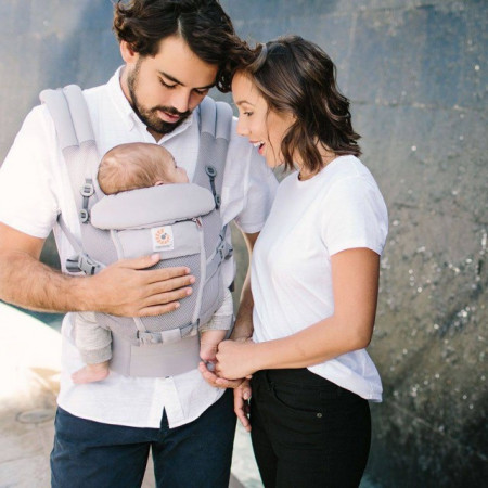 Poze ERGOBABY Carrier Original Adapt PERFORMANCE COOL AIR MESH PEARL GREY  0 luni+ (editie speciala)